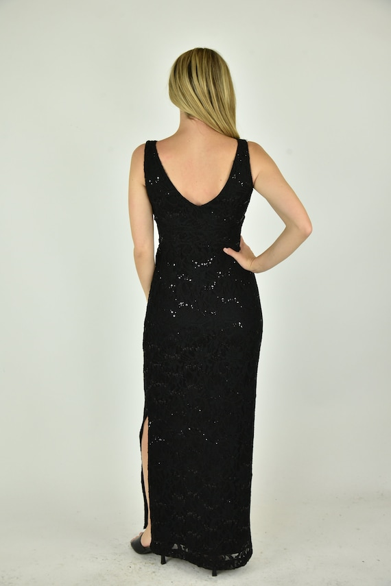 Vintage 90' Lauren Ralph Lauren Black Dress Size 2 - image 3