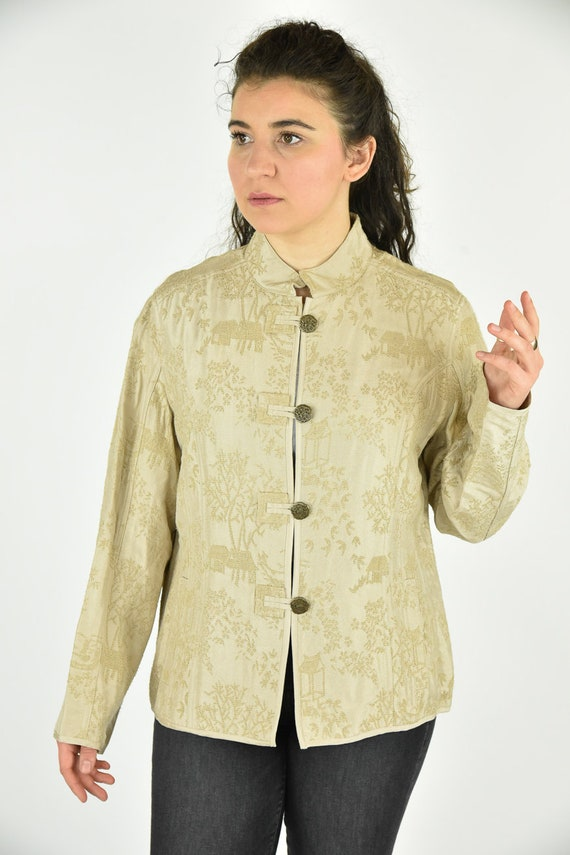 Vintage 90's Chico's Tan Jacket Size 2 - image 1