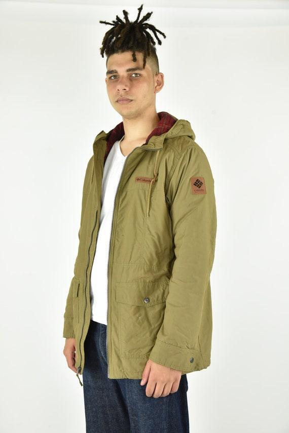 Vintage 90's Columbia Tan Jacket Size LG - image 2
