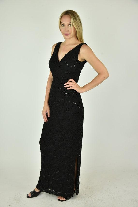 Vintage 90' Lauren Ralph Lauren Black Dress Size 2 - image 2