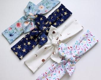 4 Patterns | Daisy our Tie Headband (Thin Version)