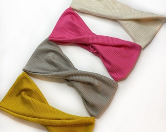Pepper our Twisted Headband | 4 Colours | Ribbed Knit