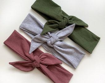 5 Colours | Daisy our Tie Headband | Thin Headband | Bamboo Collection