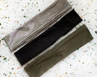 Black | Olive Green | Distressed Camo | Maple our Classic Headband | Unisex Headband