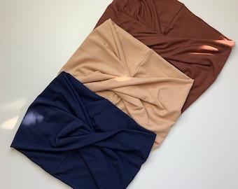 3 Solid Colours | Cedar our Multi-Way Headband