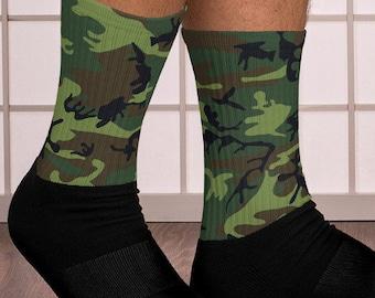 Leather Cowboy Boot Socks Comfortable Sports Crew Socks Cushioned Bottom Socks
