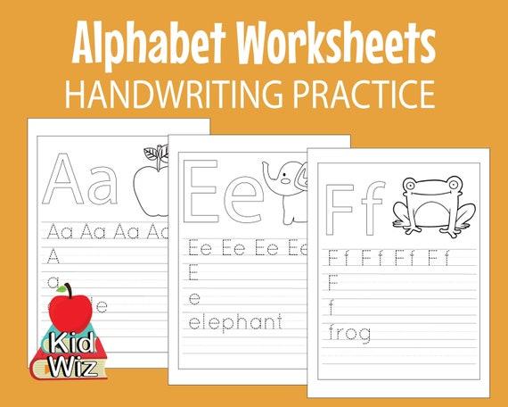 Kids Alphabet Worksheets Preschool Kindergarten Homeschool Etsy