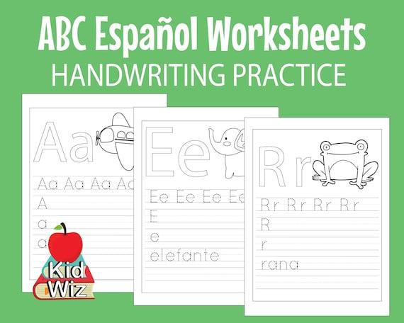 Spanish ABC Worksheets For Kids Preschool Kindergarten Etsy