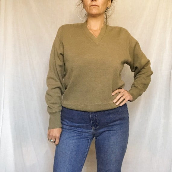 olive green army jumper