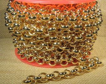 CH115-MG 11mm Matte Gold Rolo Chain Choose Your Length
