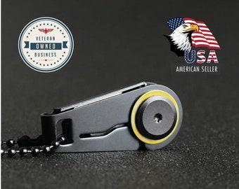 Mini Folding Pocket Knive | Stainless Steel Zipper Knife & Key Ring | EDC Gear