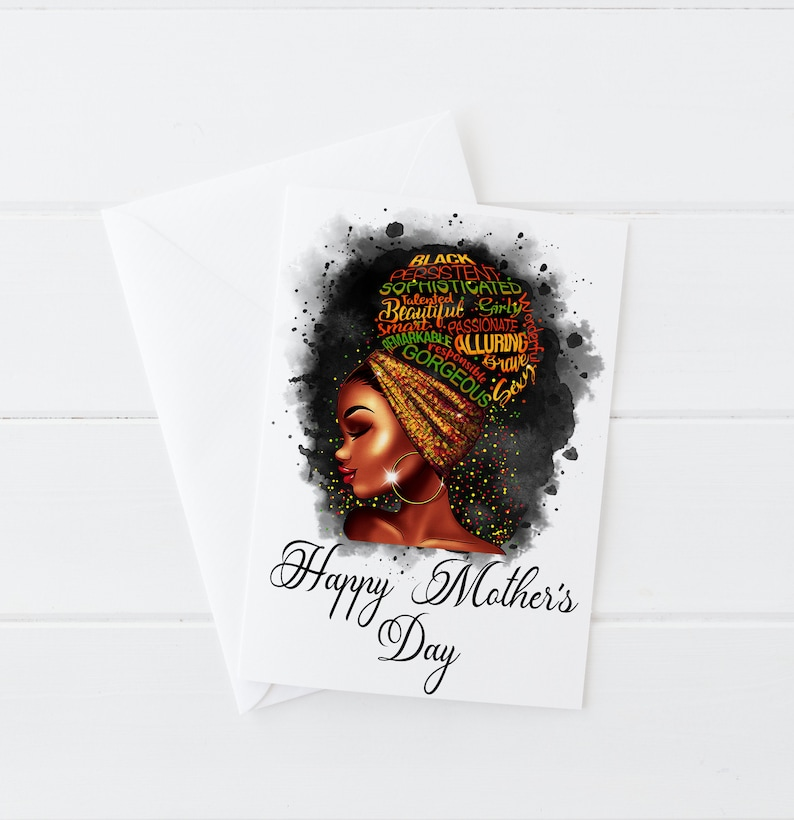 Black Queen Gifts for Her Personalised  Happy MOTHER/'S DAY CARD