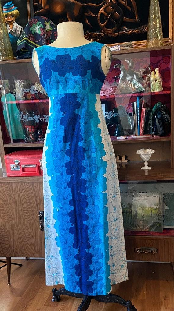 50s/60s Hawaiian Maxi Dress
