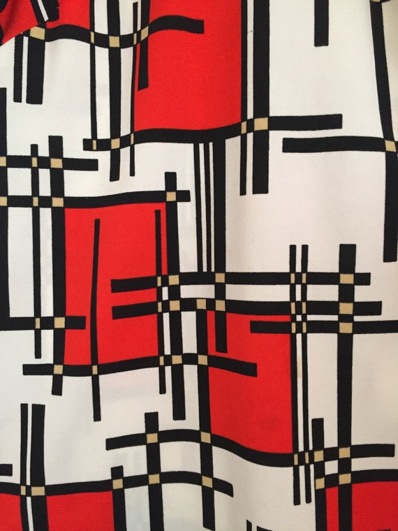 60s Vintage abstract dresss - image 5