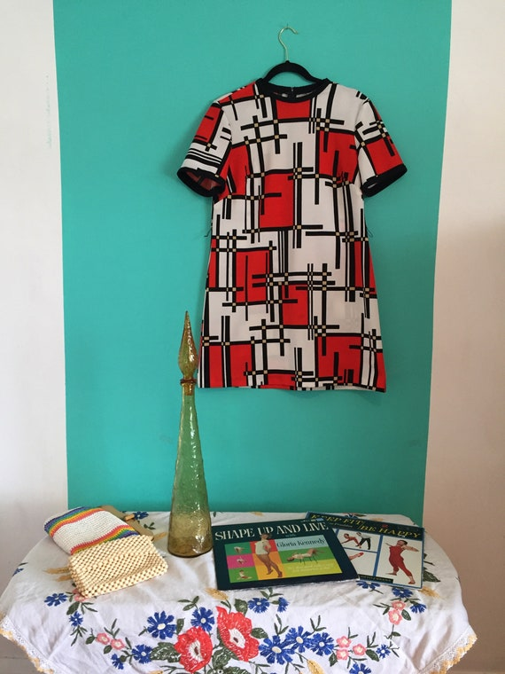 60s Vintage abstract dresss - image 2