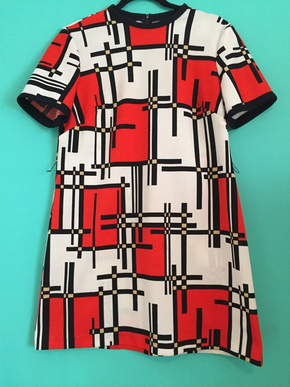 60s Vintage abstract dresss - image 3