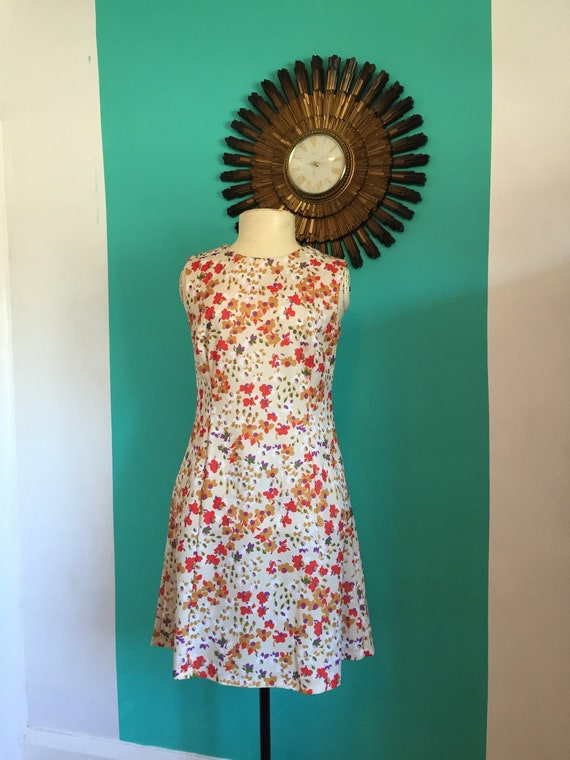 60s Mod GoGo Dress floral