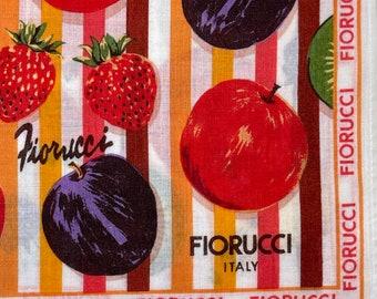 FIORUCCI Italy Vintage Handkerchief 17 x 17 inches