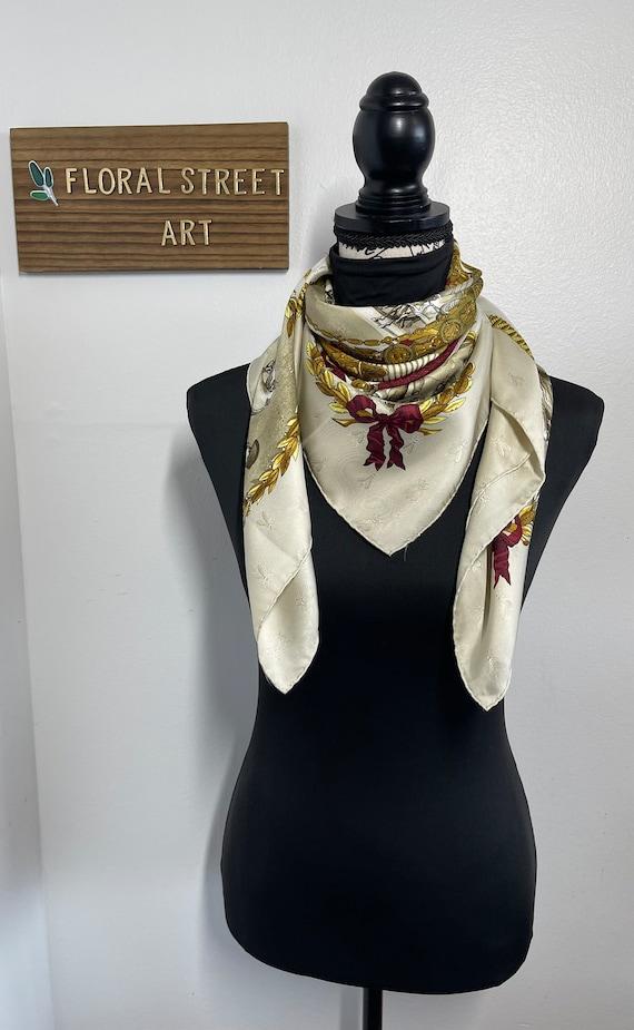 Hermès vintage silk scarf Napoleon 90 cm