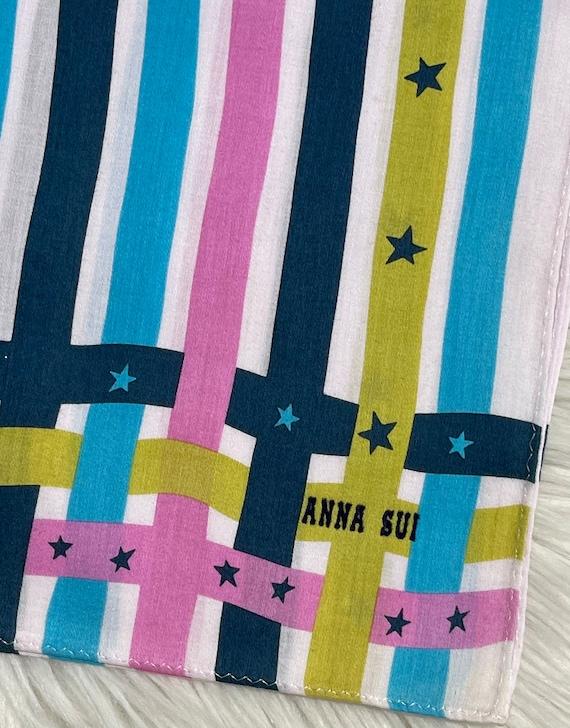 Anna Sui Vintage Handkerchief 18 x 18 inches, Aut… - image 5