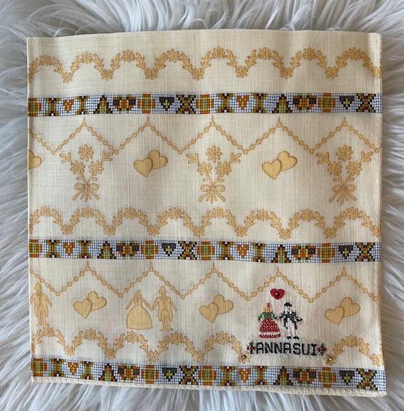 Anna Sui Vintage Handkerchief 19 x 19 inches, Aut… - image 1