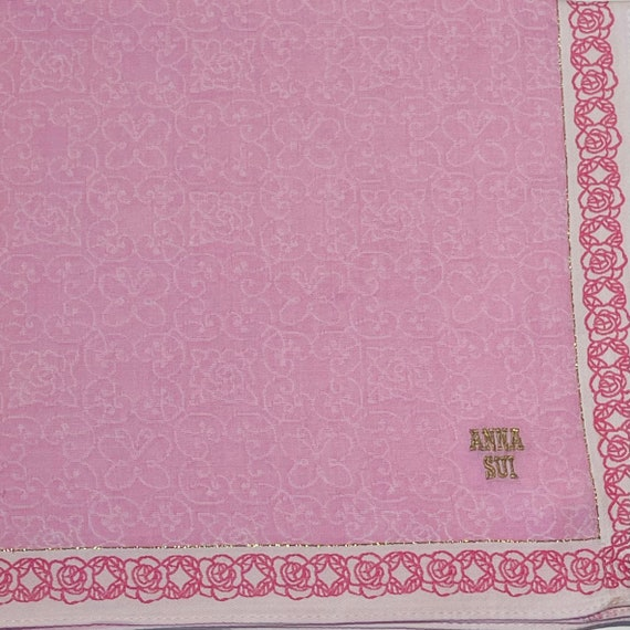 Anna Sui Vintage Handkerchief 18 x 18 inches - image 5