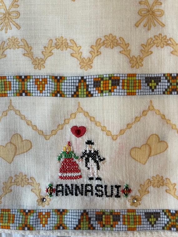 Anna Sui Vintage Handkerchief 19 x 19 inches, Aut… - image 5