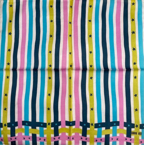 Anna Sui Vintage Handkerchief 18 x 18 inches, Aut… - image 4