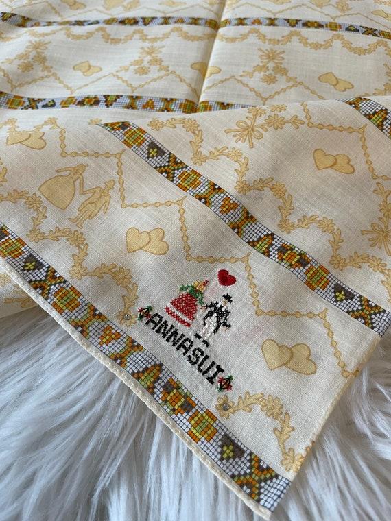 Anna Sui Vintage Handkerchief 19 x 19 inches, Aut… - image 3