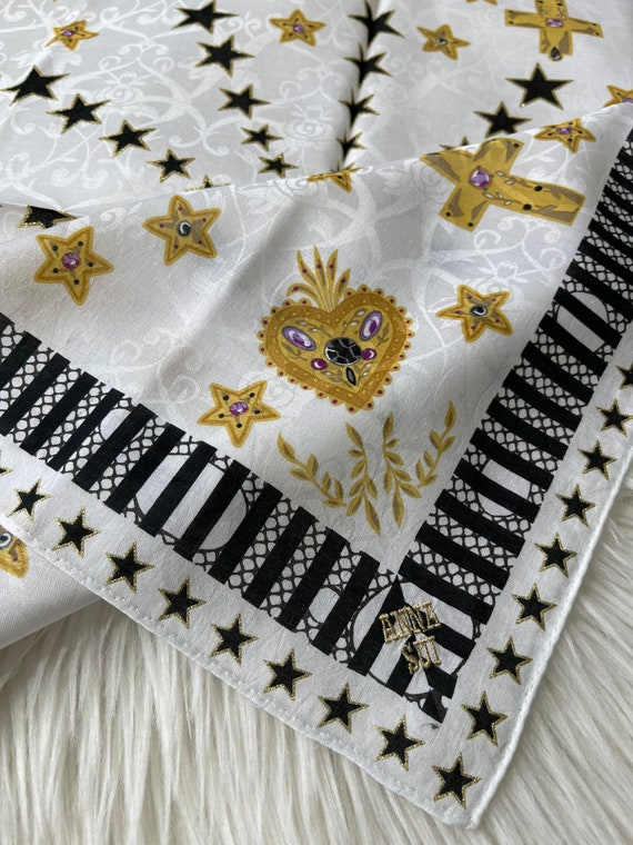 Anna Sui vintage Handkerchief 22 x 22 inches - image 3