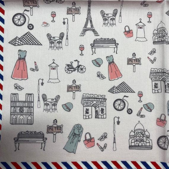 Marie Claire /bis vintage handkerchief 19 x 19 in… - image 4