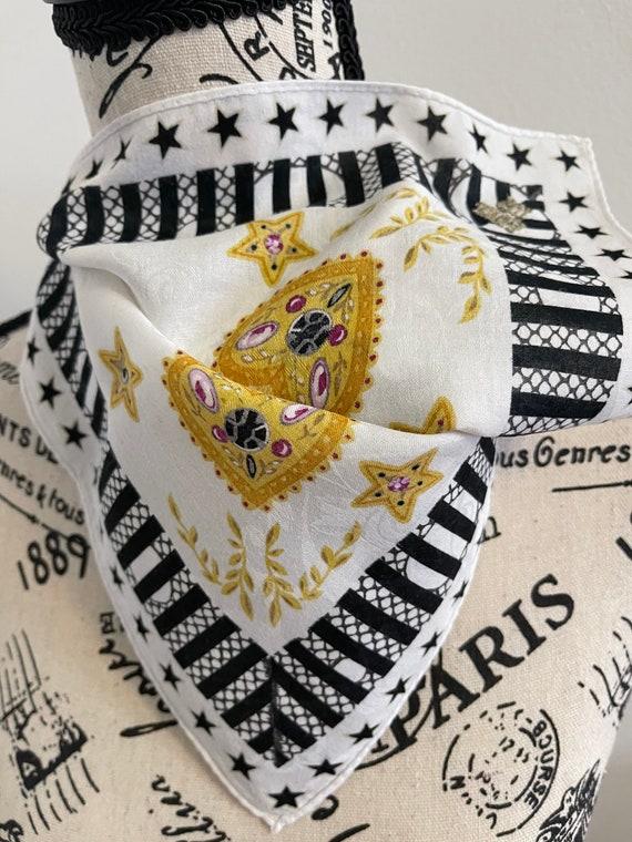 Anna Sui vintage Handkerchief 22 x 22 inches - image 5