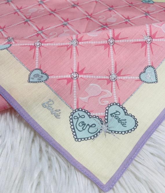 Beautiful handkerchief Barbie Vintage Handkerchief Made in Japan 18\u201dx18\u201d Cotton