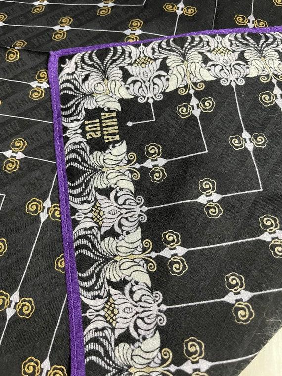 "Anna Sui Vintage Handkerchief 18""x18"" Cotton - image 4"