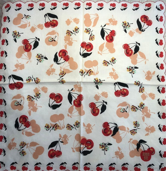 Anna Sui Vintage Collection Handkerchief Made in … - image 2