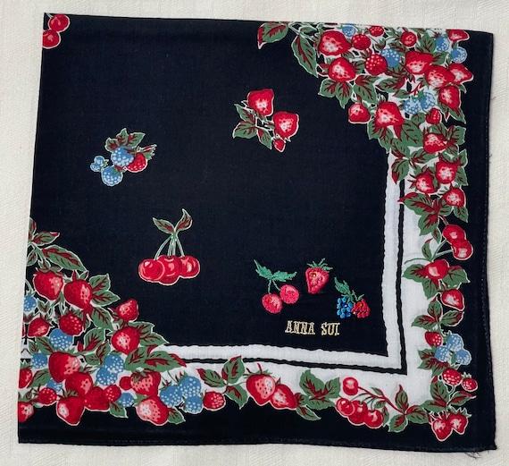 Anna Sui Vintage handkerchief 19 x 20 inches - image 6