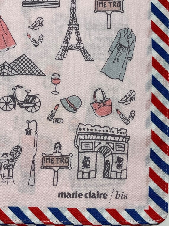 Marie Claire /bis vintage handkerchief 19 x 19 in… - image 3