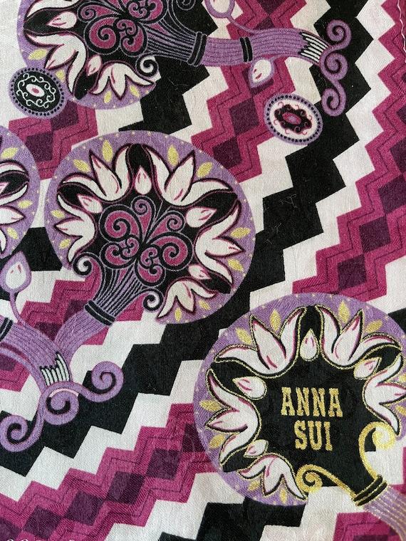 Anna Sui Vintage Handkerchief 22 x 22 inches, Aut… - image 1