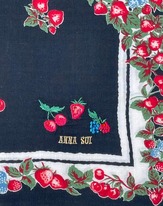 Anna Sui Vintage handkerchief 19 x 20 inches - image 5