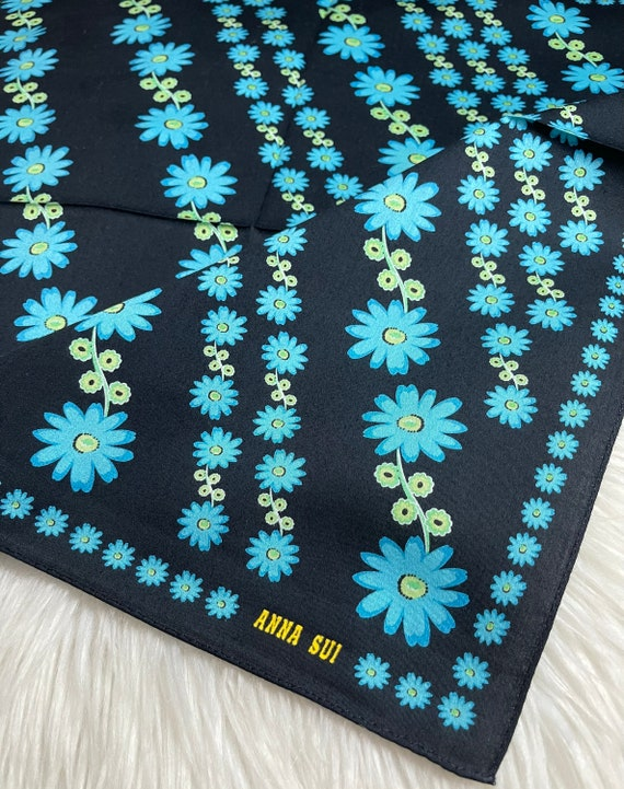 """Anna Sui Vintage Handkerchief Made in Japan 19""""x1… - image 2"""