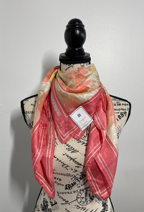 Givenchy Silk Scarf 35 x 35 inches, Authentic Scar
