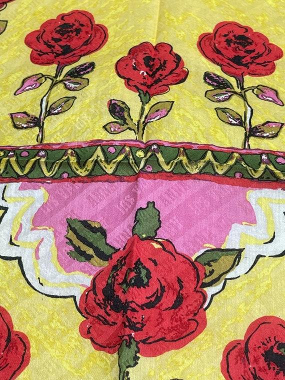 Anna Sui Vintage Handkerchief 19 x 19 inches - image 7