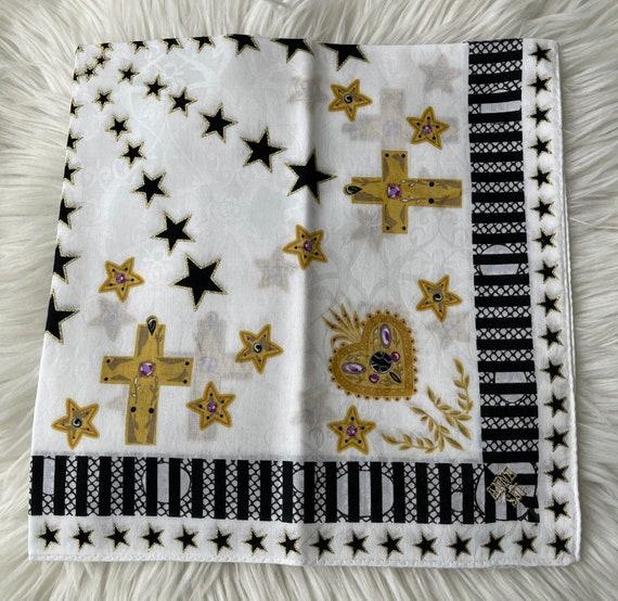 Anna Sui vintage Handkerchief 22 x 22 inches - image 7
