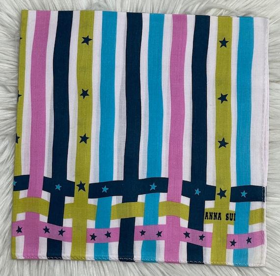Anna Sui Vintage Handkerchief 18 x 18 inches, Aut… - image 2
