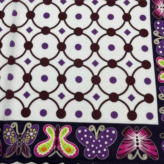 Anna Sui Vintage Handkerchief 18 x 18 inches - image 3