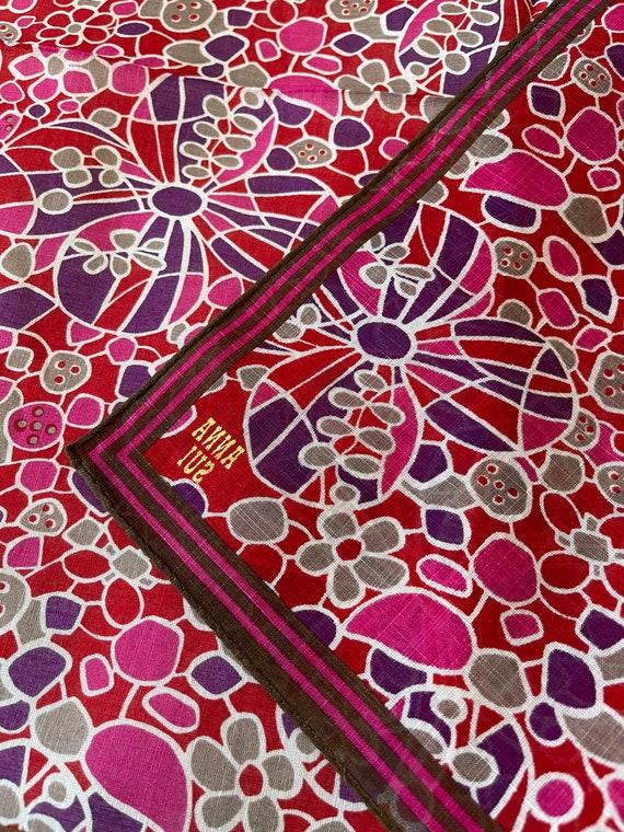 "Anna Sui Vintage Handkerchief 19""x19"" Cotton - image 5"