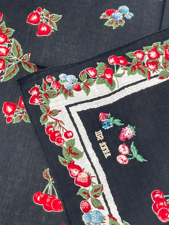 Anna Sui Vintage handkerchief 19 x 20 inches - image 2