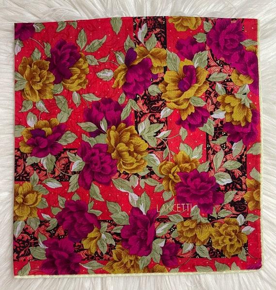 Beautiful handkerchief Vintage Handkerchief Made in Japan 20\u201dx20\u201d Cotton By Bigi Japan Handkerchief