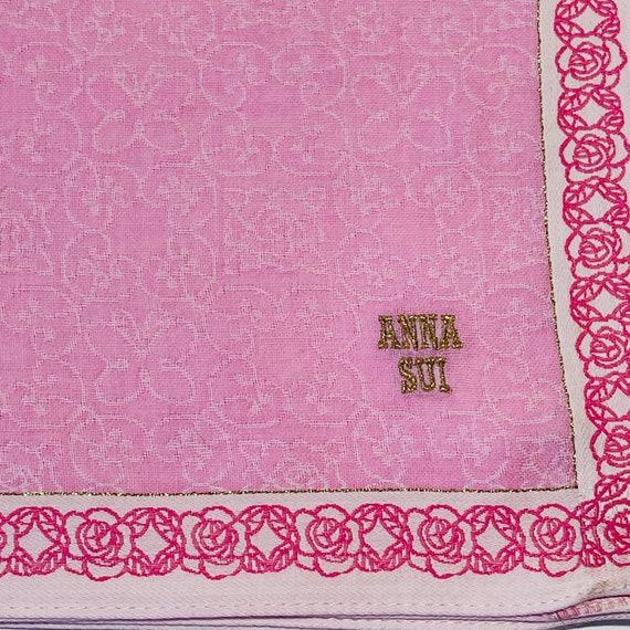 Anna Sui Vintage Handkerchief 18 x 18 inches - image 2