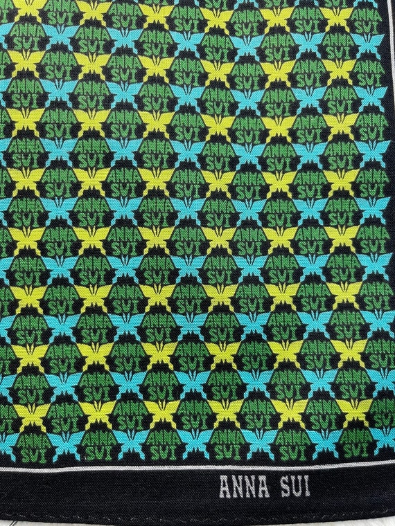 """Anna Sui Vintage Handkerchief Made in Japan 19""""x1… - image 4"""